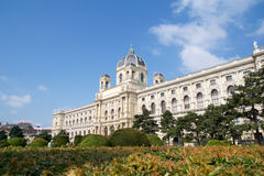 VIENNA, AUSTRIA - APR 29th, 2017: Beautiful view of famous Naturhistorisches Museum Natural History Museum with park and Stock Images