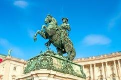 VIENNA, AUSTRIA - APRIL 22, 2016: Monument of the Prinz Eugen Stock Images