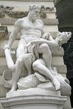 Sculpture of Hercules near the Hofburg Palace in Vienna, Austria Royalty Free Stock Photos