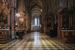 Vienna, Austria - 15 April 2018: St. Stephen`s Cathedral in Vienna. royalty free stock photos