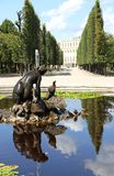 VIENNA, AUSTRIA - August 25 Fountain in Schonbrunn Castle park o Royalty Free Stock Image