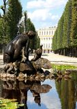 VIENNA,AUSTRIA - August 25 Fountain of  SchonBrunn Palace on Aug Stock Photo