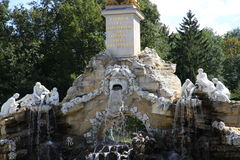 VIENNA, AUSTRIA - August 25 fountain under the Egyptian obelisk Stock Images