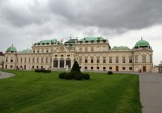 VIENNA,AUSTRIA - August 27 Garden of BELVEDERE Palace on August Stock Images