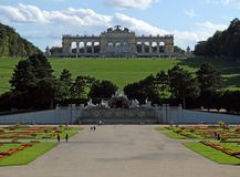 VIENNA,AUSTRIA - August 25 Gloriette Building of  SchonBrunn Pal Stock Photography