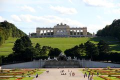 VIENNA, AUSTRIA - August 25 Gloriette monument in Schonbrunn Cas Royalty Free Stock Photo