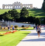 VIENNA, AUSTRIA - August 25 Gloriette monument in Schonbrunn Cas Royalty Free Stock Photos