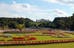 VIENNA, AUSTRIA - August 25 Gloriette monument in Schonbrunn Cas Royalty Free Stock Images