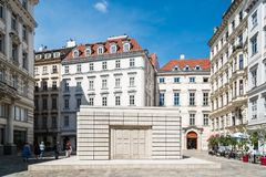 Judenplatz Holocaust Memorial in historical city center of Vien royalty free stock photo