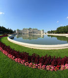 VIENNA,AUSTRIA - August 28 Lake and Garden of BELVEDERE Palace o Stock Photography