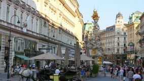 VIENNA - AUSTRIA, AUGUST 2015: daily life view stock footage