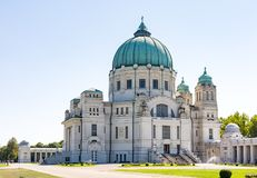 Luegerkirche in the Vienna Central Cemetry Stock Image