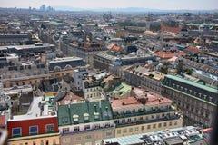 Vienna, Austria - August 19, 2012: Panorama of Vienna, aerial vi Stock Photos