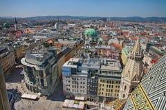 Vienna, Austria - August 19, 2012: Panorama of Vienna, aerial vi Stock Image