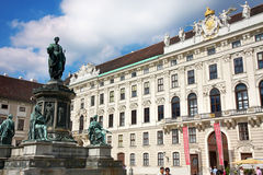 Vienna, Austria - August 17, 2012: Statue of Francis II, Holy Ro Royalty Free Stock Photo