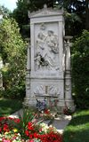 Vienna, Austria - August 24, 2014:  Tombstone of the musician FR royalty free stock photos