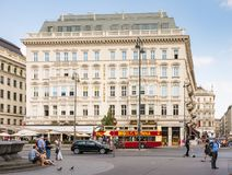 Tourists at the Hotel Sacher in Vienna Royalty Free Stock Photo