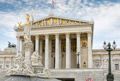 Vienna Austria. The Austrian Parliament in Vienna Royalty Free Stock Photography