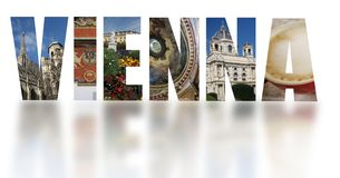 Vienna Austria banner text on white Royalty Free Stock Photography