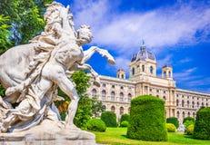 Vienna, Maria-Theresien-Platz park, Wien, Austria stock images