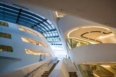 Vienna, Austria 2 03 2019 Biblioteca dell'universit? economica Costruzione moderna all'interno immagini stock