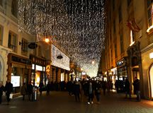 Festive illumination in the streets of Vienna Royalty Free Stock Images