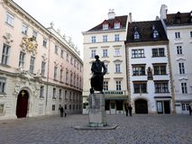 Jewish Square with the Lessing monument in Vienna stock photos
