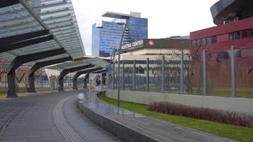 VIENNA, AUSTRIA - DECEMBER, 25 Modern office building complex Royalty Free Stock Photos