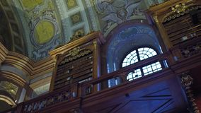 VIENNA, AUSTRIA - DECEMBER, 24 Steadicam interior shot of Austrian National Library. 4K video