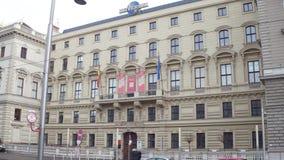 VIENNA, AUSTRIA - DECEMBER, 24 Steadicam shot of Universal Music office. 4K video stock video