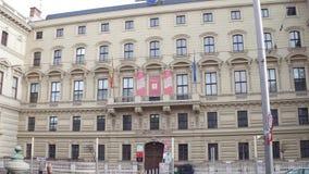 VIENNA, AUSTRIA - DECEMBER, 24 Tilt shot of Universal Music Austria office. 4K video stock footage