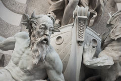 Vienna. Austria Domination on the sea fountain in the Vienna Royalty Free Stock Image