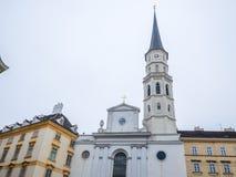 VIENNA, AUSTRIA - 17 FEBBRAIO 2018: Intorno al palazzo imperiale di Hofburg quasi il famoso a Vienna, Austria immagine stock