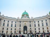 VIENNA, AUSTRIA - 17 FEBBRAIO 2018: Palazzo imperiale di Hofburg a Vienna, Austria fotografia stock