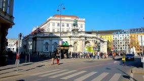 Albertinaplatz square, Vienna, Austria stock video