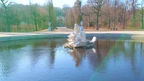 Fountain in Meidlinger Linden Groves of Schonbrunn, Vienna, Austria