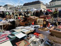 Flea Market At Naschmarkt Vienna royalty free stock photo