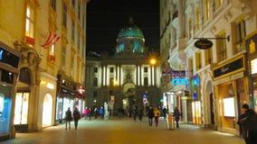 Evening in old Vienna, Austria stock video footage