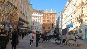 City center of Vienna, Austria stock video footage