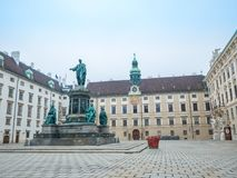 VIENNA, AUSTRIA - FEBUARY 17, 2018: Around Hofburg Imperial Palace the almost famous in Vienna, Austria. stock photos