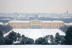 VIENNA,AUSTRIA - JANUARY, 2013: The Schonbrunn palace in winter. Stock Images