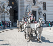 VIENNA, AUSTRIA - JULY 3, 2015: Horse carriage Royalty Free Stock Photos
