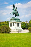 VIENNA, AUSTRIA - JULY 27, 2014: Statue of Archduke Charles in Vienna, Austria Royalty Free Stock Photos
