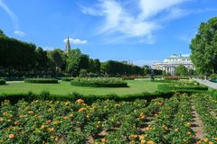 Volksgarten park in Vienna, Austria. Royalty Free Stock Photos