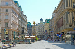 Vienna, Austria. JULY 28: View of Vienna on July 28, 2013 in . Vienna is one of the largest cities in the European Union with a population of about 1.7 Royalty Free Stock Image