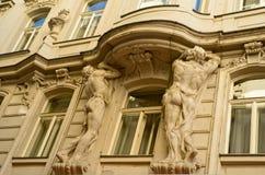 Ornate sculpture on Vienna building