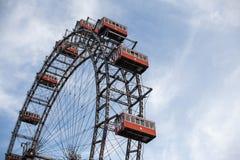 Vienna, Austria JUNE 5, 2018: Prater Giant Ferris Wheel Wiener Riesenrad from 1897, historic city landmark.  royalty free stock image
