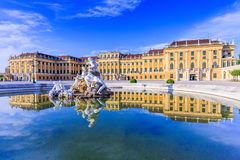 Vienna, Austria. Vienna, Austria - 28 June, 2016: Schonbrunn Palace. The former imperial summer residence is a UNESCO World Heritage site Royalty Free Stock Photo