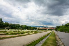 The Garden of Belvedere Palace royalty free stock photography