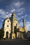 Vienna, Austria - Karlskirche famoso Fotografie Stock Libere da Diritti